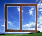Puerta de vidrio de desplazamiento de aluminio Ts148 con construido en láminas