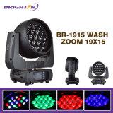 Migliori indicatori luminosi dello zoom della lavata delle lampade della fase 19*15W DJ LED per la fase