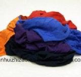 Coton coloré utilisé essuyant Rags
