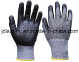 Отрежьте упорную перчатку работы с покрытием нитрила пены (K8085-18)
