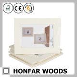 Weißer Farben-festes Holz-Abbildung-Foto-Rahmen für Hauptdekoration