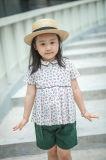女の子のために着ている100%年の綿の短い袖の子供