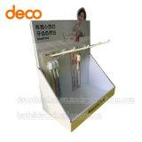 Présentoir de papier de carton de détail de cas d'exposition pour le détail