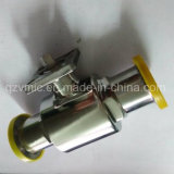 Válvula de esfera sanitária do aço inoxidável com a extremidade direta da braçadeira da almofada de montagem ISO5211 1000wog