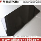 El panel compuesto de aluminio negro brillante para la fachada