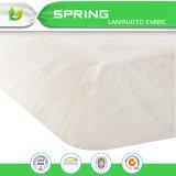Protector ajustado algodón natural impermeable al por mayor del colchón del estilo de la hoja de China Terry