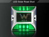 Impermeable LED verde de energía solar del reflector de aluminio Marcador del camino