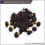 5A一等級の自然なブラジルのRemyの波状のバージンの人間の毛髪