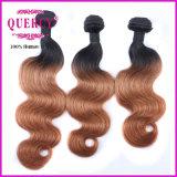 100 gruppo di tessitura dei capelli di Omber dell'onda del corpo dei capelli umani del tessuto 100% del brasiliano 2 di tono dei capelli naturali di Ombre