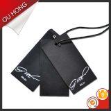 Heißer Form-Entwurf druckte Eigenmarken-Firmenzeichen-Packpapier-Fall-Marken für Kleidung
