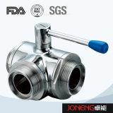 Type serré par côté robinet à tournant sphérique hygiénique (JN-BLV1006) d'acier inoxydable