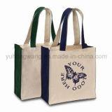 Sacchetto di Tote della tela di canapa di promozione, sacchetto di acquisto del cotone