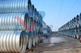 Sargeta de aço ondulada da tubulação da drenagem do grande diâmetro da fábrica de 10 anos