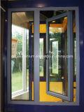 Fenêtre en charnière en aluminium (à l'extérieur ou à l'intérieur des voies d'ouverture)