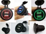 MarinesおよびBoatsのための12V 24V 3.1A Motorcycle Car Dual USB Power Charger Socket