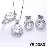 De micro bedekt Plaatsende Juwelen in Echte Zilveren Reeks (ys-0604)