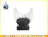 화강암 심혼 디자인 묘석 따옴표