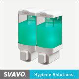 Распределитель мыла двойного прозрачного бака ручной (V-8122)