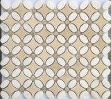 Mosaico di marmo beige delle mattonelle di mosaico del materiale da costruzione per il rivestimento della parete (FYSL338)