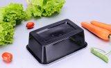 Устранимый черные/белые пластичные контейнер еды микроволны Kitchenware/коробка с крышкой