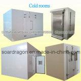 Cámara fría aislada almacén del panel de emparedado con la unidad de refrigeración paralela del compresor