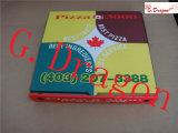 Blanco Kraft corrugado Custom Logo Impreso Take Away E Flauta Take Away Pizza Box
