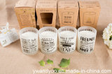 Candela naturale profumata romantica di massaggio della soia in vetro