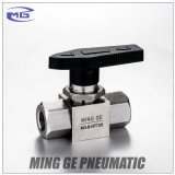 Robinet à tournant sphérique manuel pour la pression faite en acier inoxydable 304 (MG-B-NPT3/8, MAGNÉSIUM-B-G3/8)