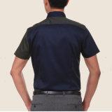 Camisa de seda formal de la funda del cortocircuito de la manera de 2017 hombres del resorte