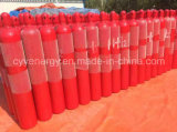 cilindro de gás sem emenda de alumínio de alta pressão do dióxido de carbono do argônio do nitrogênio do oxigênio 8L