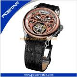 Shenzhen Postar Watches Skeleton Automatic Watches mit Genuine Leather Band