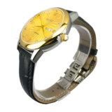 Waterdicht Horloge mw-11 van het Leer van de Mensen van de manier Heet Verkopend