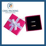 Caixa de embalagem azul Handmade bonita do papel da jóia (CMG-PJB-046)