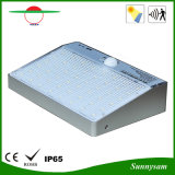 luz solar de la pared PIR del cuerpo humano de 48PCS 2835SMD LED de movimiento del sensor de la luz de la seguridad de la luz de la lámpara elegante sin hilos impermeable al aire libre solar 600lm del IP 65