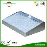 A rua ao ar livre IP65 da lâmpada quente da segurança do jardim da luz do sensor de movimento da potência solar do diodo emissor de luz de 4W 600lm 48 Waterproof a luz da parede