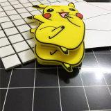 Положительная величина 6s Se 4s 5 5s 6 iPhone 7 аргументы за задней стороны обложки силикона шаржа 3D Pikachu Anime милая для S4 S5 S6 S7 S7edge Note3/4/5/J5/A7 (XSDW-077)