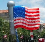 Advertizing por encargo Helium Balloons, Inflatable Helium Flag Balloon para los E.E.U.U.