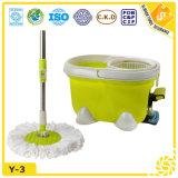 Fregona fácil vendedora caliente del compartimiento plástico de la limpieza del suelo