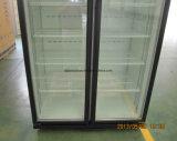 Neues Art-Doppelt-Glastür-Getränkekühlraum mit dem dynamischen Abkühlen