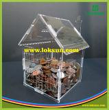 Casella a forma di di donazione della Camera acrilica libera all'ingrosso con la serratura