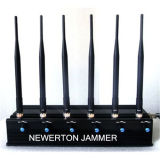 6 antennes Cellular Phone Blocker Jammer voor GSM 3G/4G Cellphone, 2.4G GPS van WiFi, Lojack, VHF UHF walky-Talky of 315/433/868MHz Car Remote