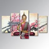 Покрашенная рукой картина маслом Будды на произведении искысства декора искусствоа стены конспекта холстины