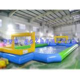 놀기를 위한 농구를 가진 팽창식 비누 미식 축구 경기장 또는 팽창식 축구 운동장