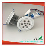 9 * 3W RGBW / Rgbww LED Downlight / LED plafonnier