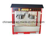 Máquina de lujo de las palomitas con el pote del acero inoxidable en color rojo