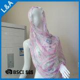 60s女性のビスコーススカーフのヘッドスカーフ