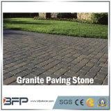Pedra natural de pavimentação de granito amarelo / bege e cascalho para garagem, pavilhão, área de estacionamento