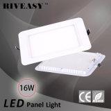 16W 세륨에 의하여 고립되는 운전사 최신 판매를 가진 정연한 둥근 구석 아크릴 LED 위원회 빛