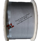 AISI 316 Edelstahl Wire Rope Construction 7X19 Diameter 1.5mm