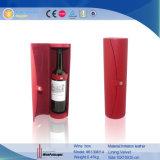 Het Geval van de Wijn van de Cilinder van het Leer van Pu voor Enige Fles (6139R8)